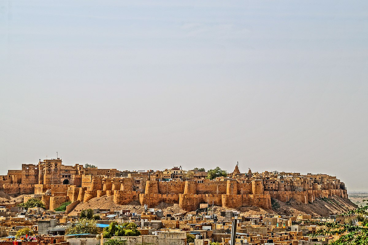 The magnificent ruins of Jaisalmer Fort