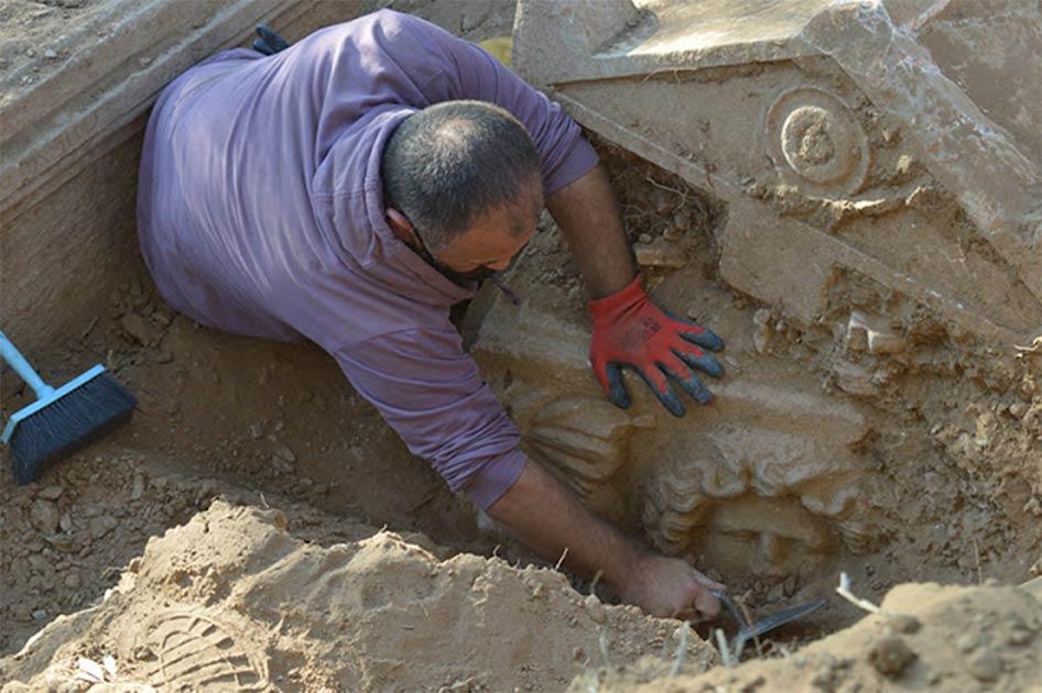 Roman Era Sarcophagus Found By Turkish Farmer