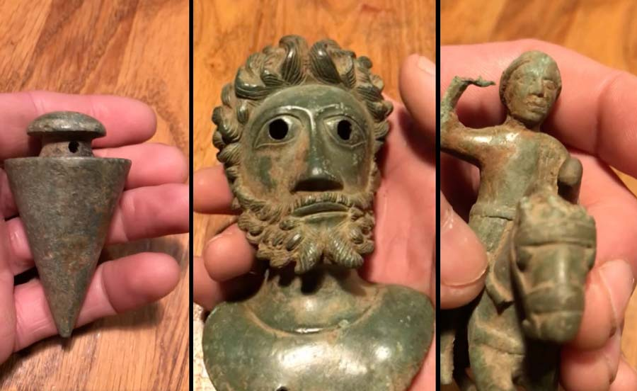 Roman artefacts dug up by detectorists tipped to sell for £100,000