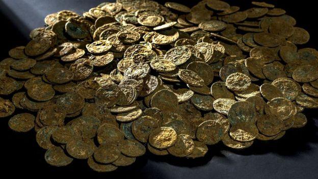 ancient Roman coins in Switzerland