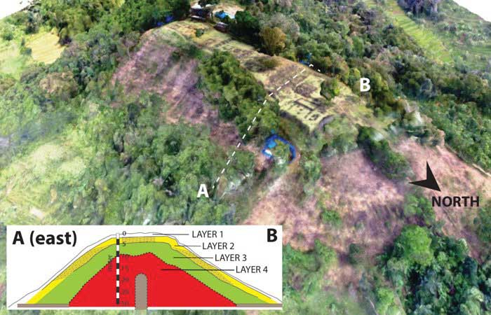 mysterious pyramid is discovered at the top of Mount Padang