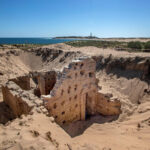 Ancient Roman bath complex discovered beneath sand dunes in Spain