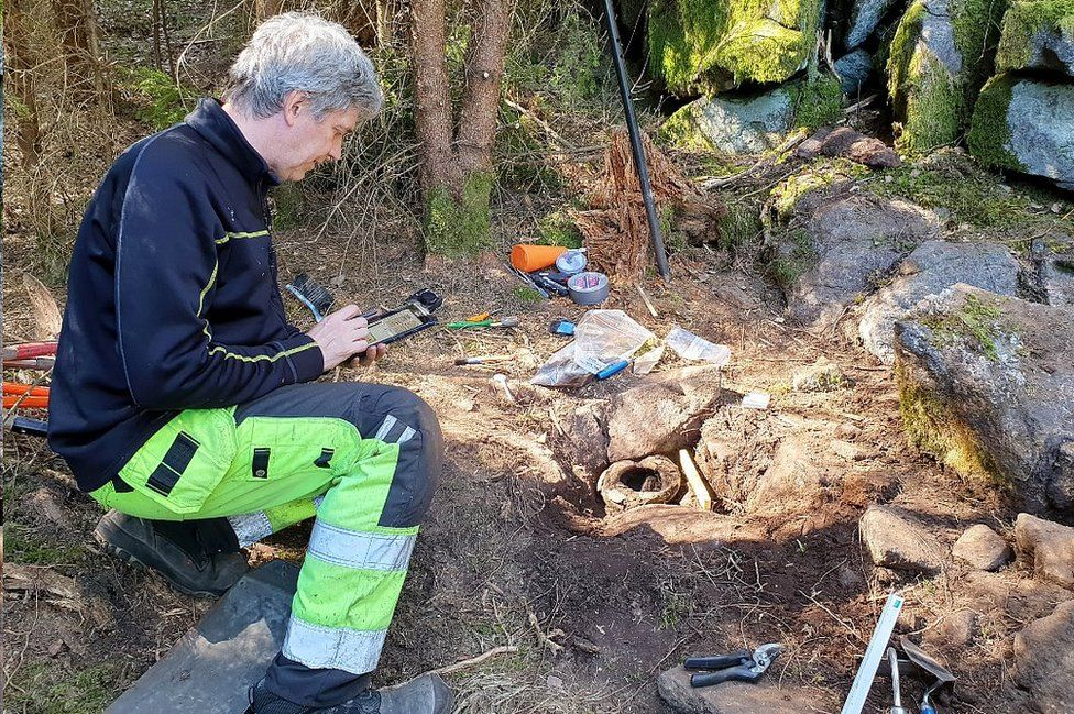 Bronze Age treasure in a forest in Sweden