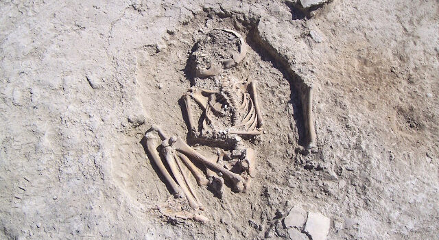 5700-year-old child skeleton unearthed in Turkey