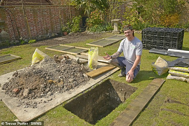 Mystery as workmen building patio dig up FIVE human skeletons in back garden of family home
