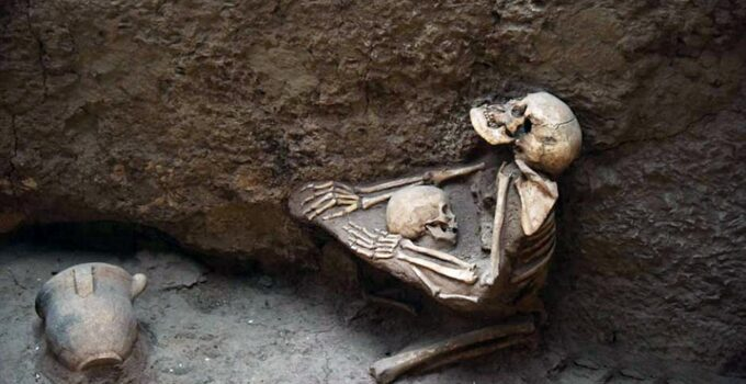 4,000-year-old skeletons of mother and child found embraced in 'China's Pompeii'