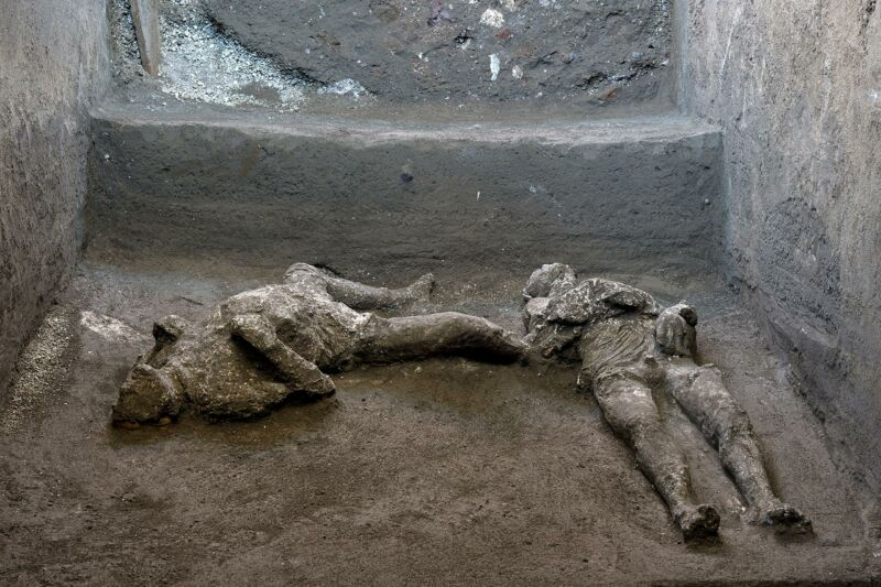 Two Vesuvius Victims Found in Pompeii