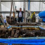 Bronze Age coffin containing an axe and a 'high-status' man found in a golf course pond